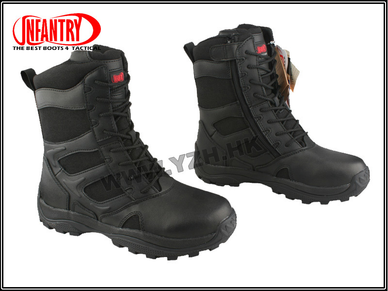 Mens INFANTRY Forced Entry Tactical Duty Work Police Army hiking Boots Black BD7183