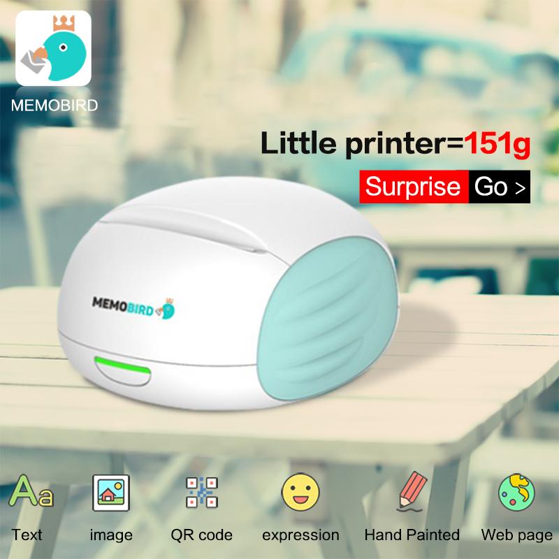 MEMOBIRD 151g Printer Wifi Portable Bluetooth Printing Barcode Wireless Pocket Mini Thermal Printer Electronic Computer Office(China (Mainland))