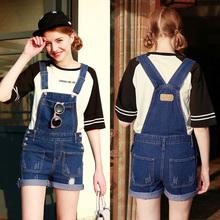 Han edition cowboy film straps shorts female fashion sweet show thin jumpsuits hot pants natsushio joker