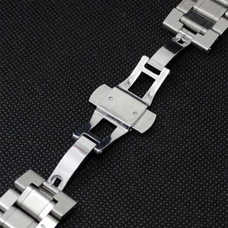 Новый Ремешок Для Часов Ремешок 26 мм 28 мм 30 мм Из Нержавеющей Стали Ремешок для Часов Наручные Часы с Толчок застежка Скрытая полированные браслеты