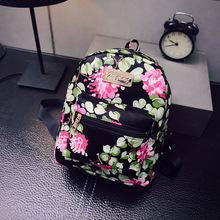 New Hot sale Summer 2016 Korean printing flower designer women's bag women backpacks girl lovely school sport bag bolsa feminina