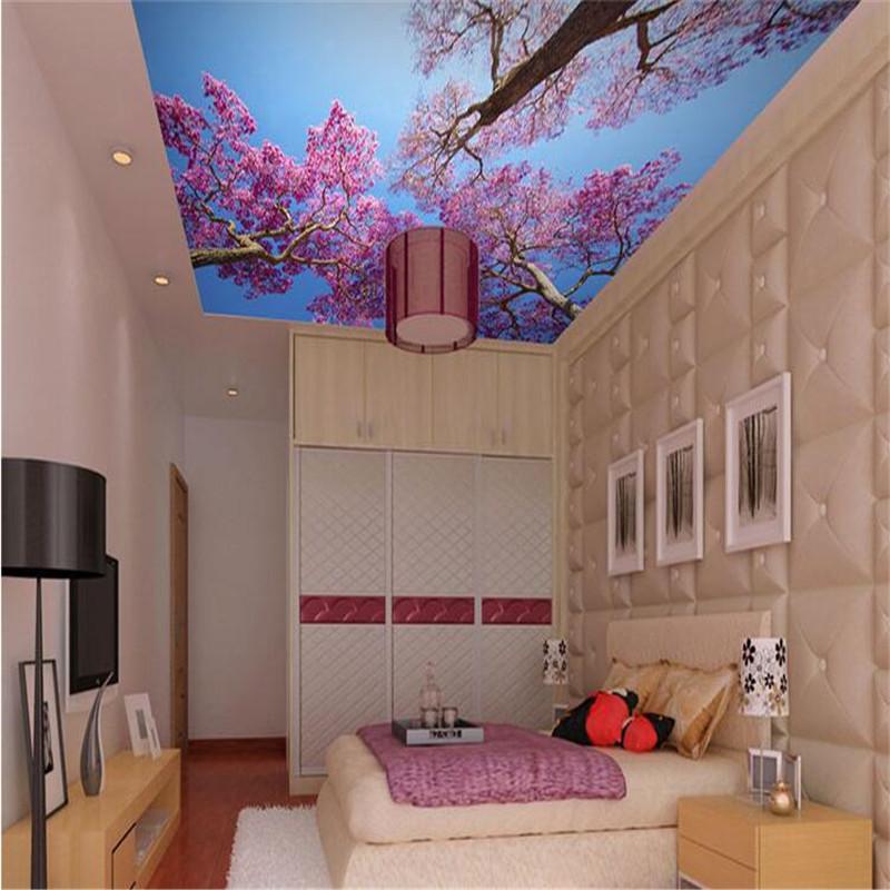 Buy custom wallpaper 3d mural wallpaper for Ceiling mural in a smoker s lounge