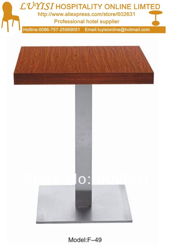coffee table,stainless steel base and MDF top,kd packing 1pc/carton,fast delivery(China (Mainland))