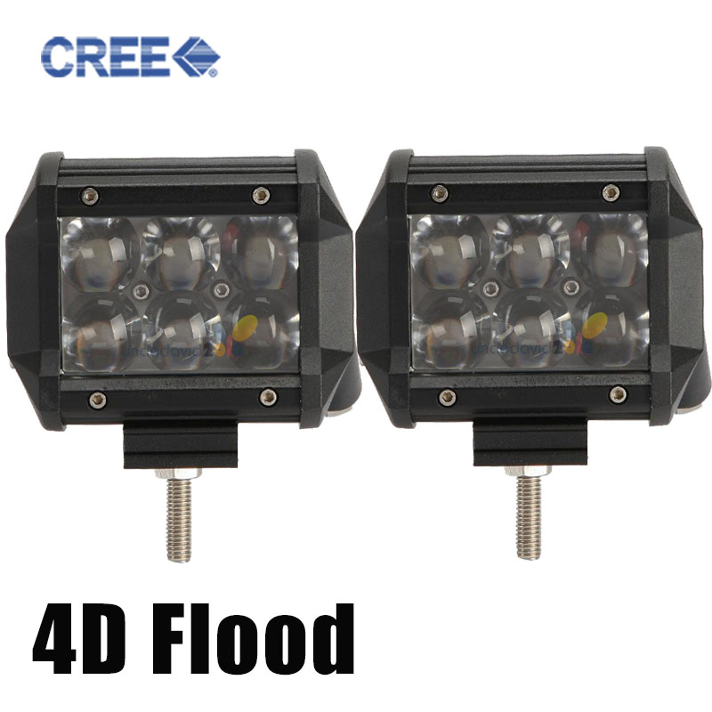 4D Cree 30w Flood Beam LED Work Light Bar Offroad 12V ATV Trailer Camper Motorcycle Truck 4x4 4WD 24V LED Driving Light Tractor(China (Mainland))
