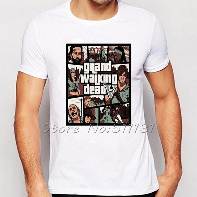 The Walking Dead Characters T-Shirt – GTA5 Style Short Sleeve Tee