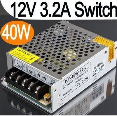 Здесь продается  Free shipping ,12V-3.2A 40W AC Swich Power supply,singel output,  Input 180-260V AC Power Adapter,min:1 lot  Безопасность и защита