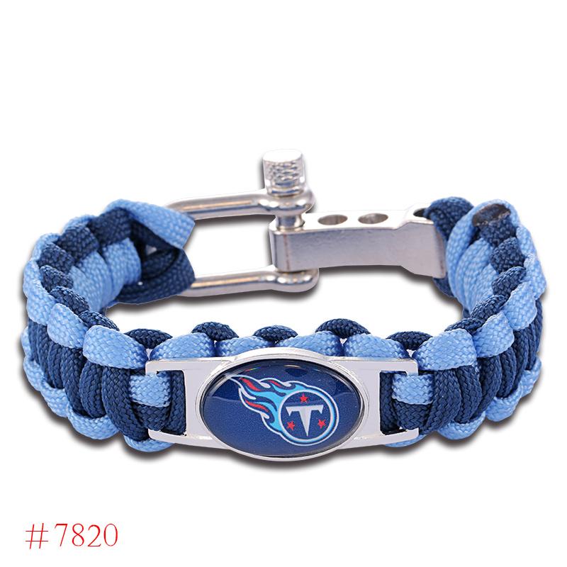 NFL Tennessee Titans Paracord Bracelet Adjustable Survival Bracelet Football Bracelet , Drop Shipping! 6Pcs/lot!(China (Mainland))