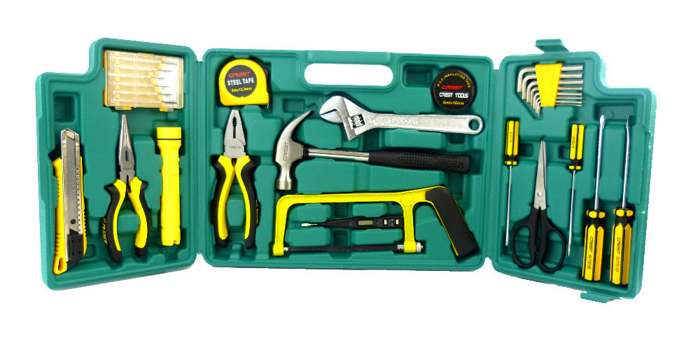 G T Hot 30PC hand electrician tool set & Chest Auto Home Repair Kit Metric- Lifetime Warranty 011030 R(China (Mainland))