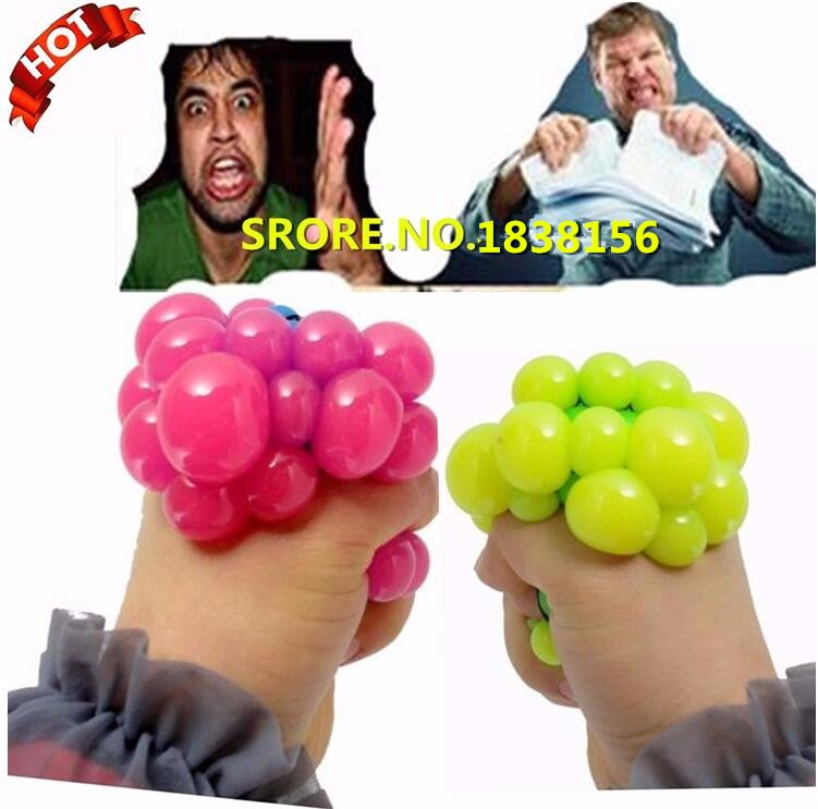 Hot Sale Funny Tricky Toy Lizunov Toys Fun Creative Toys Antistres Smash It Balls Ease Pressure Vent Grape Ball NW1