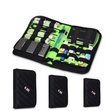 Organizer Bag USB Flash Drive Cable Memory Card Big Volume Portable Digital Storage Carry travel box Original BUBM Dropshipping(China (Mainland))