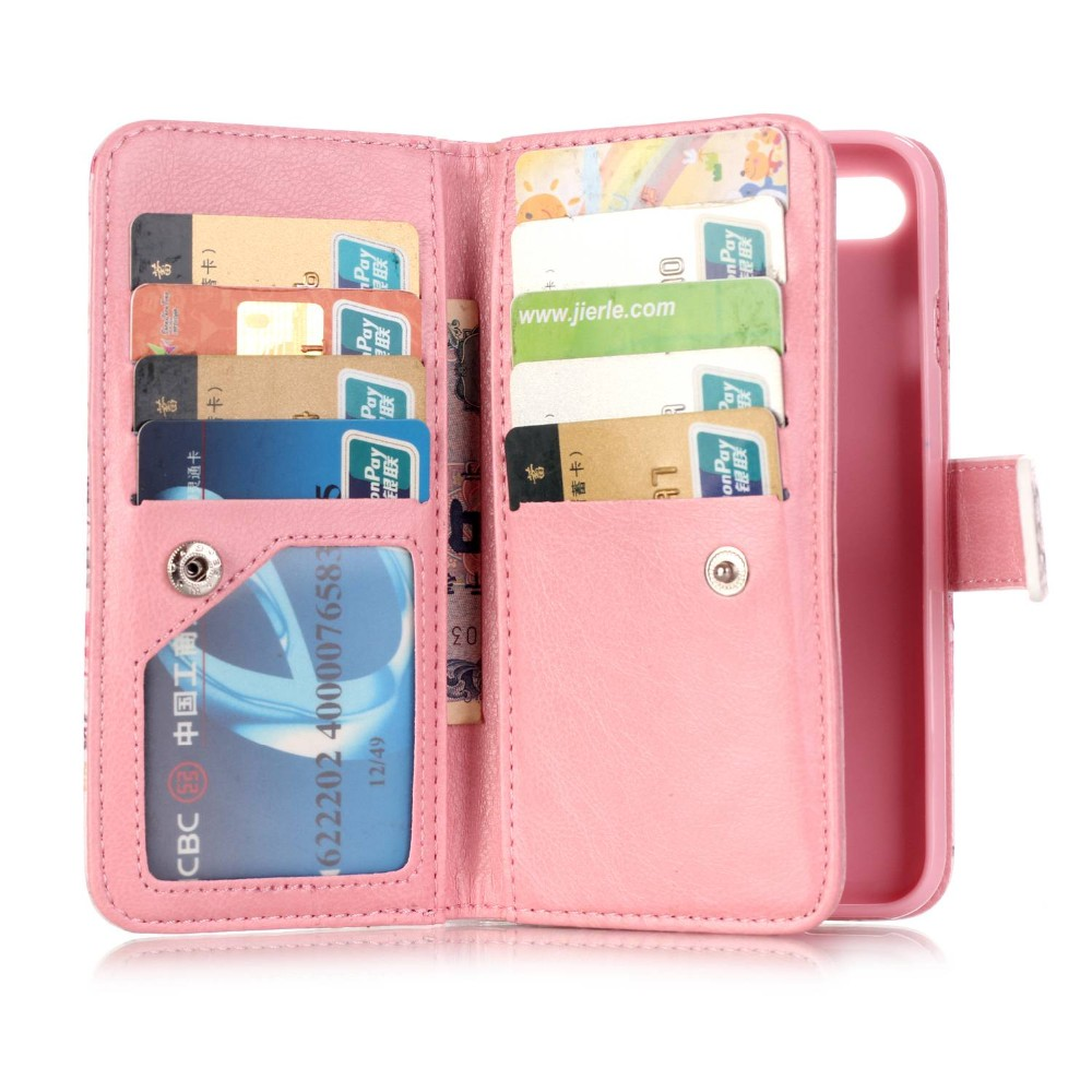 For Apple iPhone 7 Case 3D Leather Wallet + Silicone Back Cover iPhone 7 Case For iPhone7 Flip Case Phone Original Coque