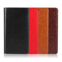 Sony Xperia Z5 Compact E5803 E5823 Mini Fundas Coque Crazy Horse Genuine Leather Wallet Card Stand Flip Phone Case Cover - HongKong NOHON International Co.,Ltd store