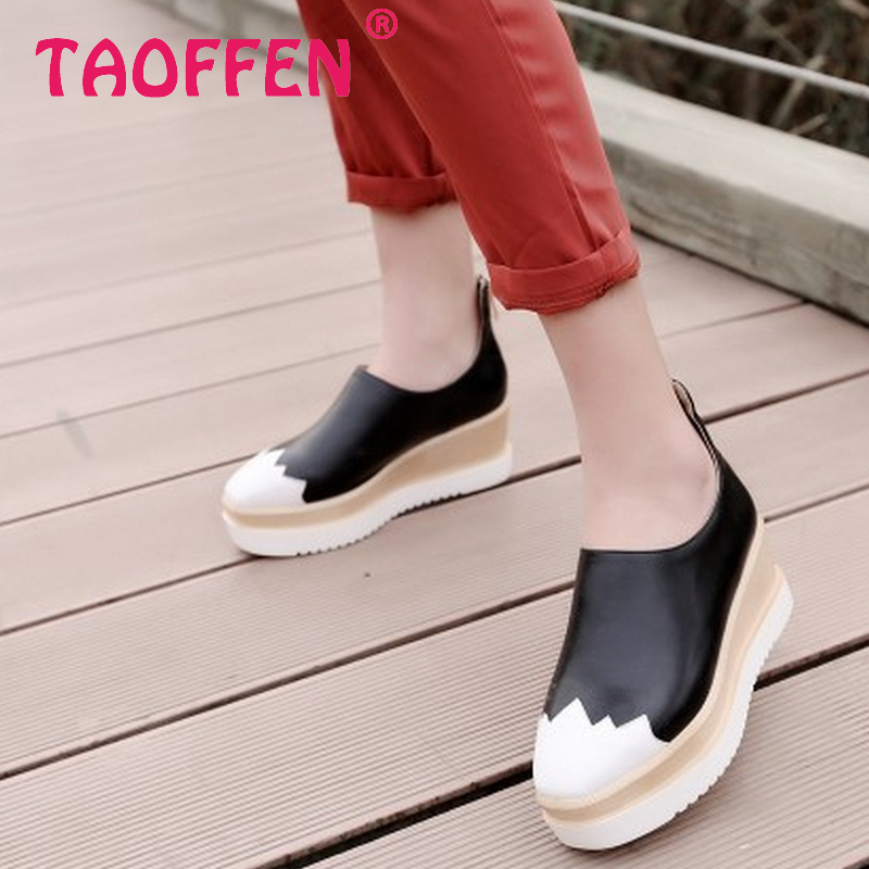 women high platform shoes patent leather star sneakers lady casual fashion wedge footwear heels shoes size 34-39 P16194<br><br>Aliexpress