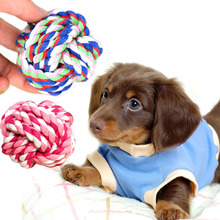 New Design Pets Rope Ball Toys Bite Ball Colorful Squeak Toys Dog Wool Ball Toys Pet Puppy Chew Toys