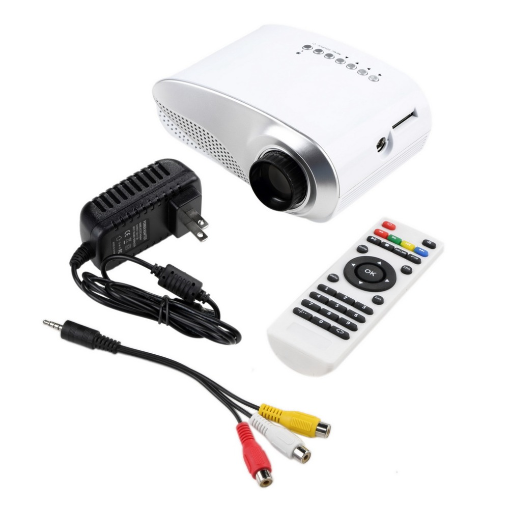 USB SD HDMI TV VGA HD LED Video LCD 1080P 3D Mini Home Theatre Portable Entertain Multimedia Projector Arrival