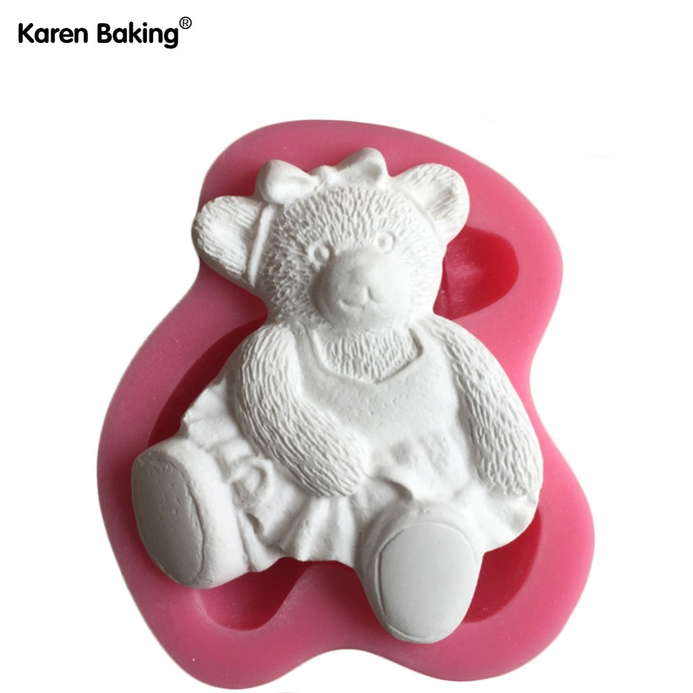 Beautiful Cute Bear Shape 3D Silicone Cake Mold For Cake Decorating C509(China (Mainland))