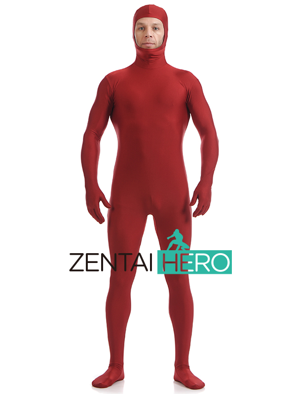 ZentaiHero NEW Second Skin Tight Suits Lycra Zentai Suit Blue Open Face Spandex Unitard Mens Cosplay Full Body Bodysuits UC11907 (4)
