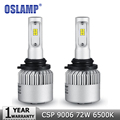 Oslamp 72W pair 9006 HB4 Car Led Headlight Bulb CREE CSP Chips Cold White 6500K 8000lm