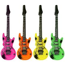 """Colorful Inflatable Guitars Rock Roll 20"""" Wedding Party Favors Rock Star Bulk Night out KARAOKE Drop Shipping(China (Mainland))"""