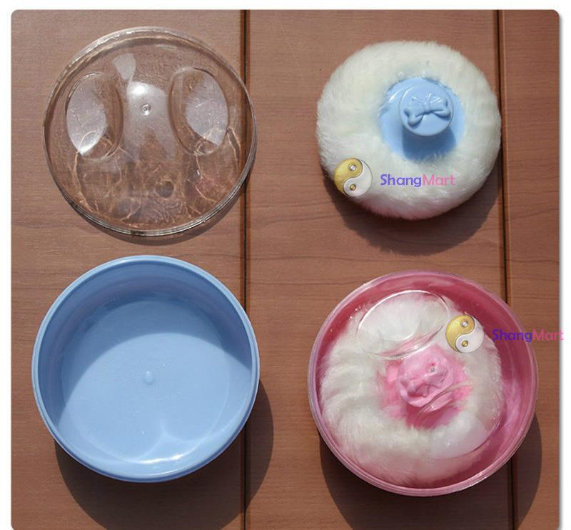 Shangmart macio beleza Multicolor Cosmetic Villus pó esponja caso Puff maquiagem mais barato