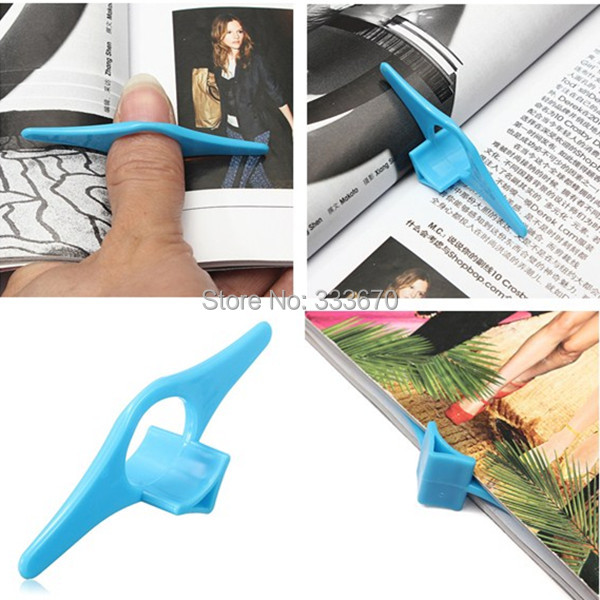 SALE 5pcs Multifunction Thumb Book Page Holder Marker Finger Ring Bookmark Plastic Convenient Reading Helper Book Mark Wholesale(China (Mainland))