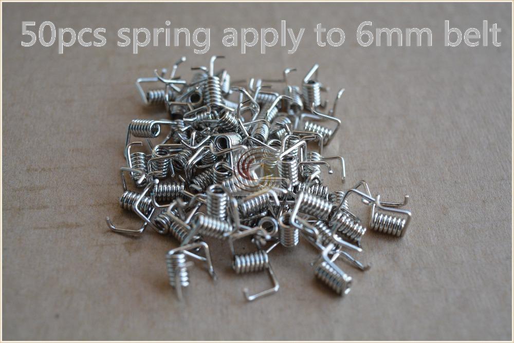 50pcs 3d printer part torsion spring timing belt locking spring tension belt pressure strong spring match use 6 mm width belt(China (Mainland))