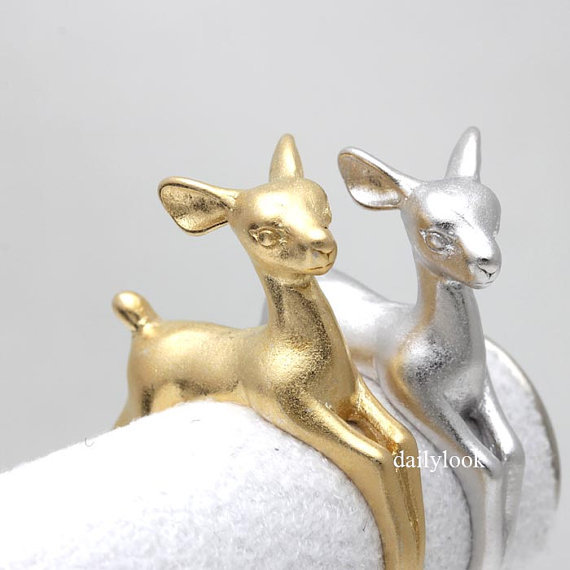 Hot Fashion New Style Adjustable Bambee Animal Wrap Ring Fine Jewelry for Ladies and Girls Free Shipping(China (Mainland))