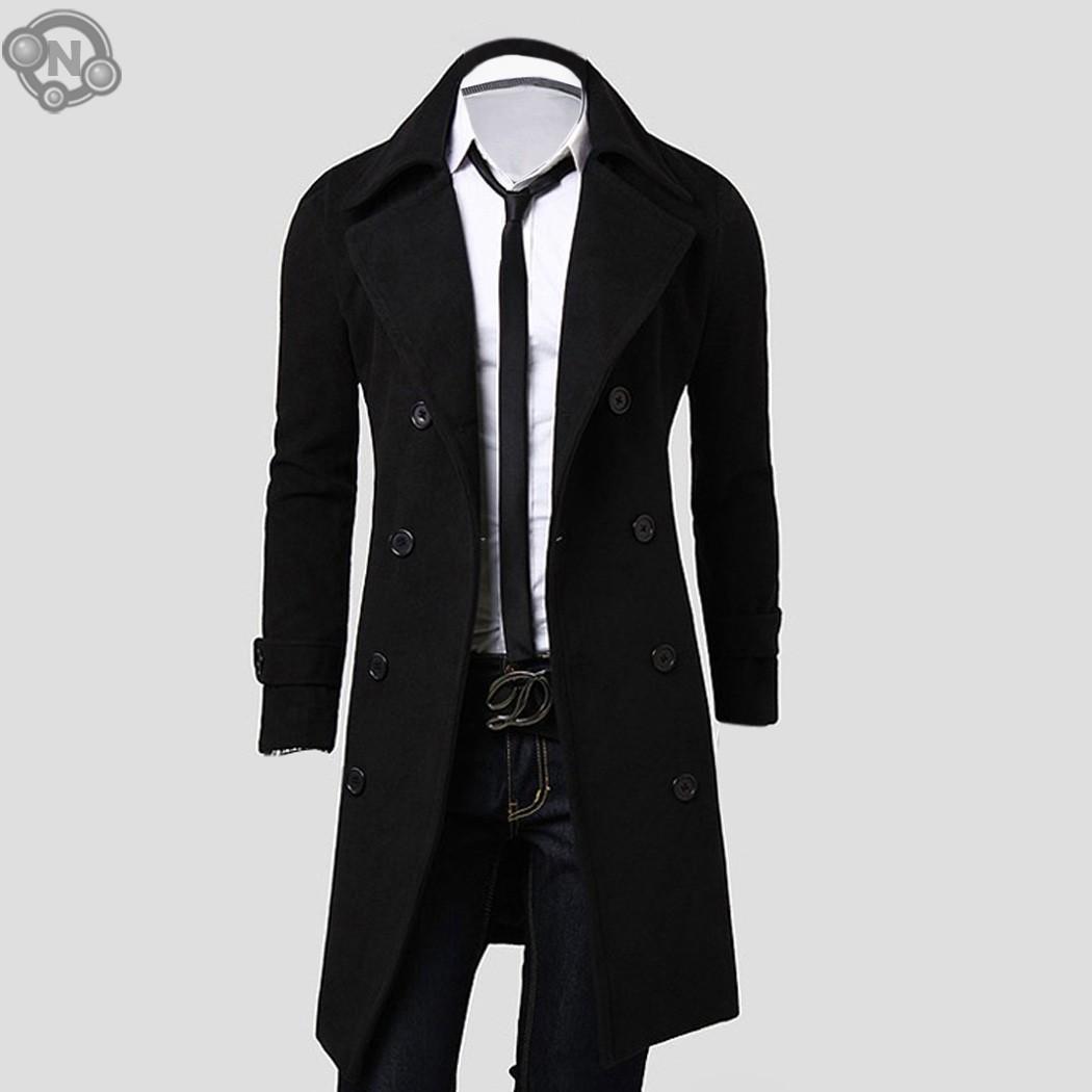 Fashion Stylish Men's Trench Coat, Winter Jacket ,Double Breasted Coat ,Overcoat woolen Outerwear Long jaqueta(China (Mainland))