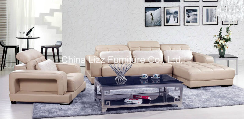 Lizz Living room Leather Sofas and Sectionals Sofa Couches Adjustable Headres(China (Mainland))