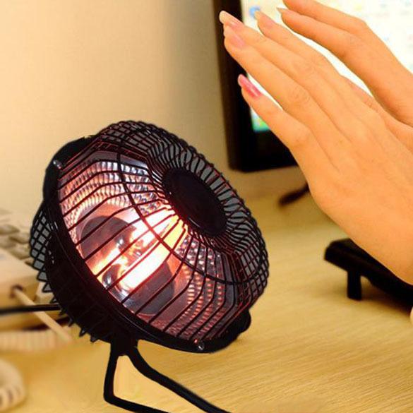 Гаджет  Winter Warm Portable Mini Desktop Electric Hand Feet Heater Warmer US Plug L3FE None Бытовая техника