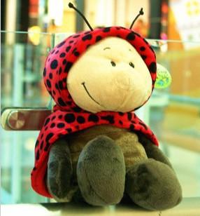 37 cm ladybug plush toys, high quality, free shopping, baby toys, dolls(China (Mainland))