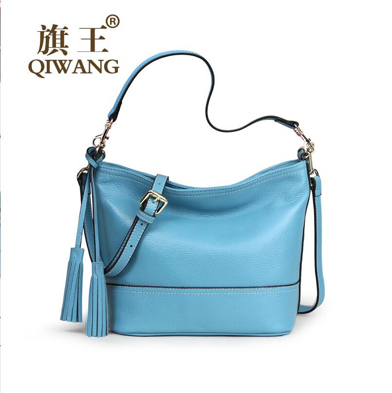 New leather bag fashion women shoulder bag aslant bag tassel bucket bag <br><br>Aliexpress