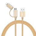 2 in 1 micro usb cable for android charger Converter usb cable for iphone 5 5s