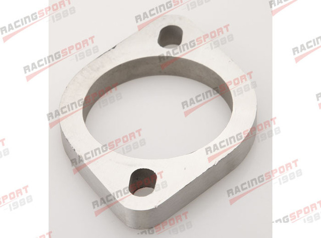 """4.0"""" 2 Bolt SS304 Slotted Flange Exhaust Downpipe Pipe Catback Header 1/2"""" Thick"""