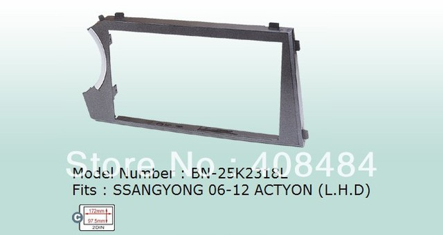 Fascias 2 DIN Panel Car Audio Refitting Panel Frame Dash Kit For SSANGYONG ACTYON Left Hand Drive 2006~2012 Free Shipping