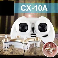 Cheerson CX-10A CX10A Mini Drone 2.4 GHz 4 CH RC Quadcopter Dron UFO with Headless Mode Radio Remote Control Helicopter RTF