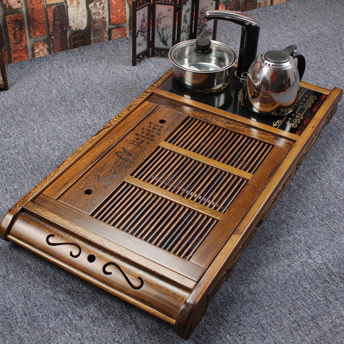 Four one induction cooker chicken wing wood tea tray solid big sea pallet kung fu teaberries sets - Jack Jimmy's store