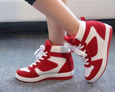 2015 Spring and Autumn new Korean lacing spell color leisure wild Within the higher high to