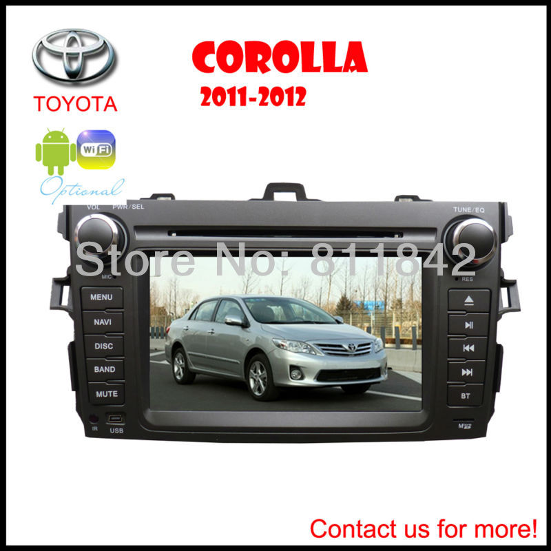 Freeship For Toyota corolla 2 Din Car DVD Player with DVD Bluetooth Touch Screen/BT/GPS/Review Camera(China (Mainland))