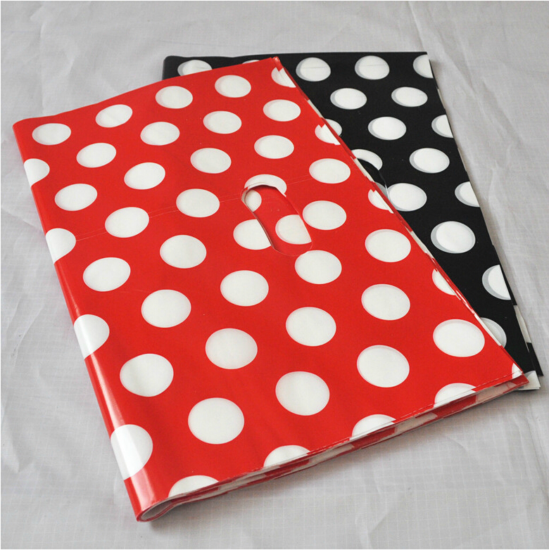 free shipping Wholesale 50pcs Lot black spot Plastic Gift Bag Shopping Bag package bag 15X20CM(China (Mainland))