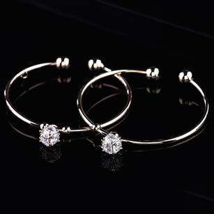 New arrival jewelry fashion personality rhinestones Cube bangle bracelet S5784(China (Mainland))