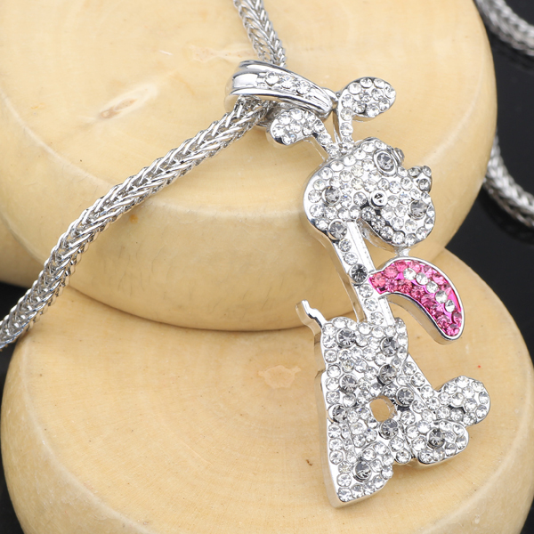 Cute Dog Lovely animal Pendant Free Shipping hiphop Style Alloy 3D -steBP2039(China (Mainland))