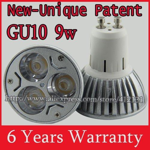 10x cree 50w led gu10 6w 9w light  bulb lamp spotlights