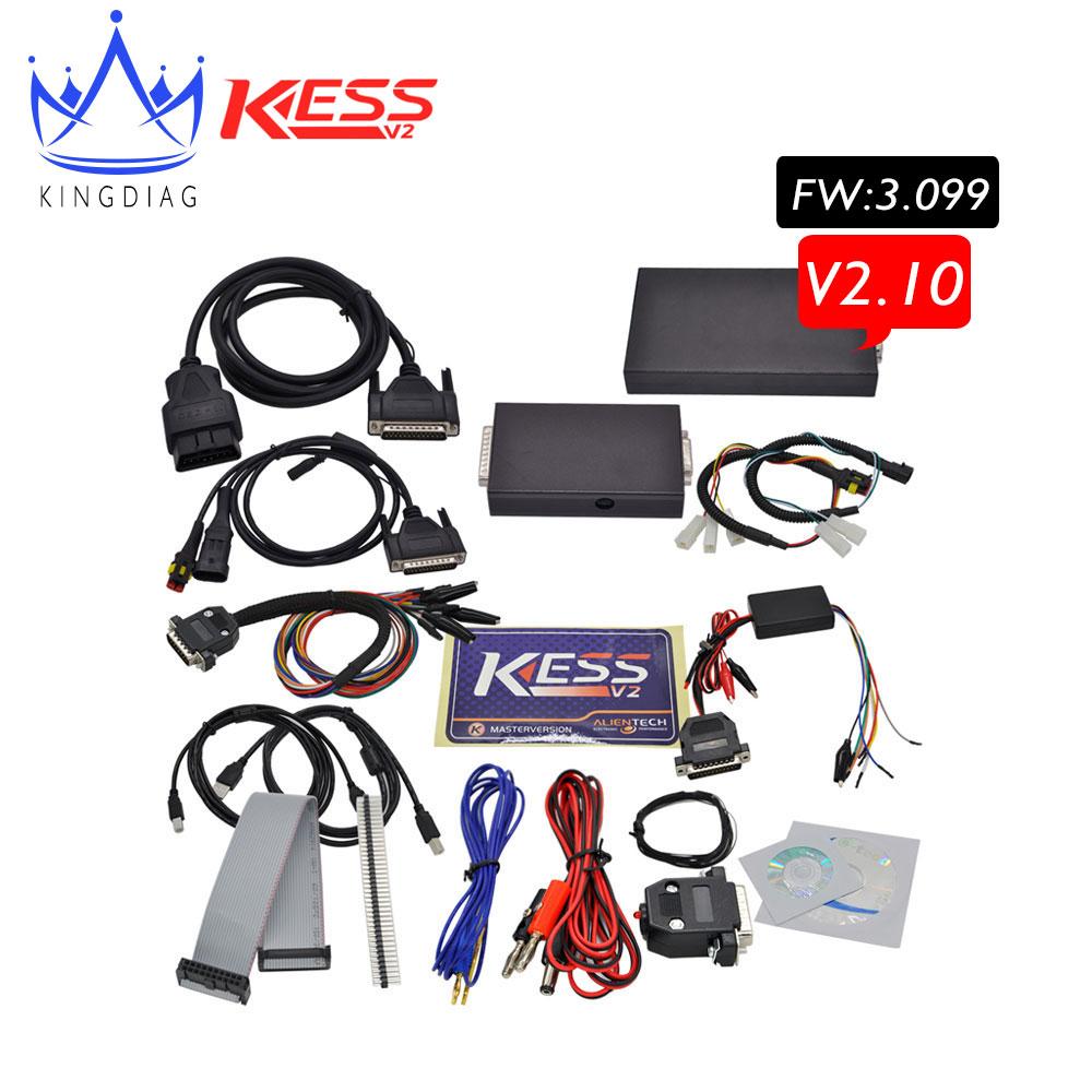 2016 Newest V2.10 KESS V2 No Token limited V 2 car ECU Chip Tuning Tool OBD2 OBD 2 Manager Tuning Kit Kess 2.10 Master free ship(China (Mainland))