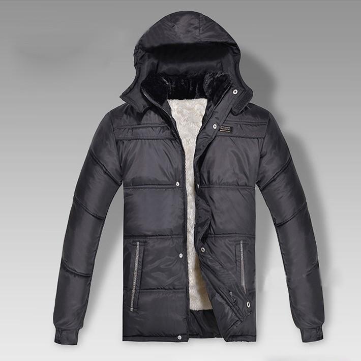 новые моды теплой непринужденной мужской меховой воротник куртки и пиджаки человек куртки зимние куртки плюшевые интерьер утолщение с капюшоном Пальто 0351