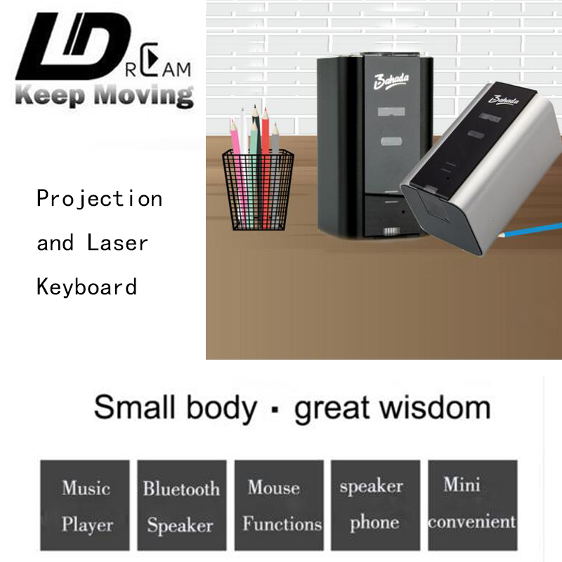 Hot sell Virtual Laser keyboard Portable with Mini Bluetooth Speaker for Ipad Iphone Tablet PC Notebook Speakphone Music player(China (Mainland))