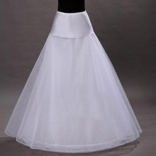 High Quality 2015 Petticoat A Line 1-hoop 2-layer Cerceau Petticoat Underskirt Bridal Crinolines for Wedding Dress In Stock(China (Mainland))