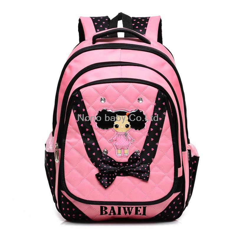2014 New Doll primary school bag children / kids double shoulder backpack Hard Back grade class 3-6 - wang ye's store