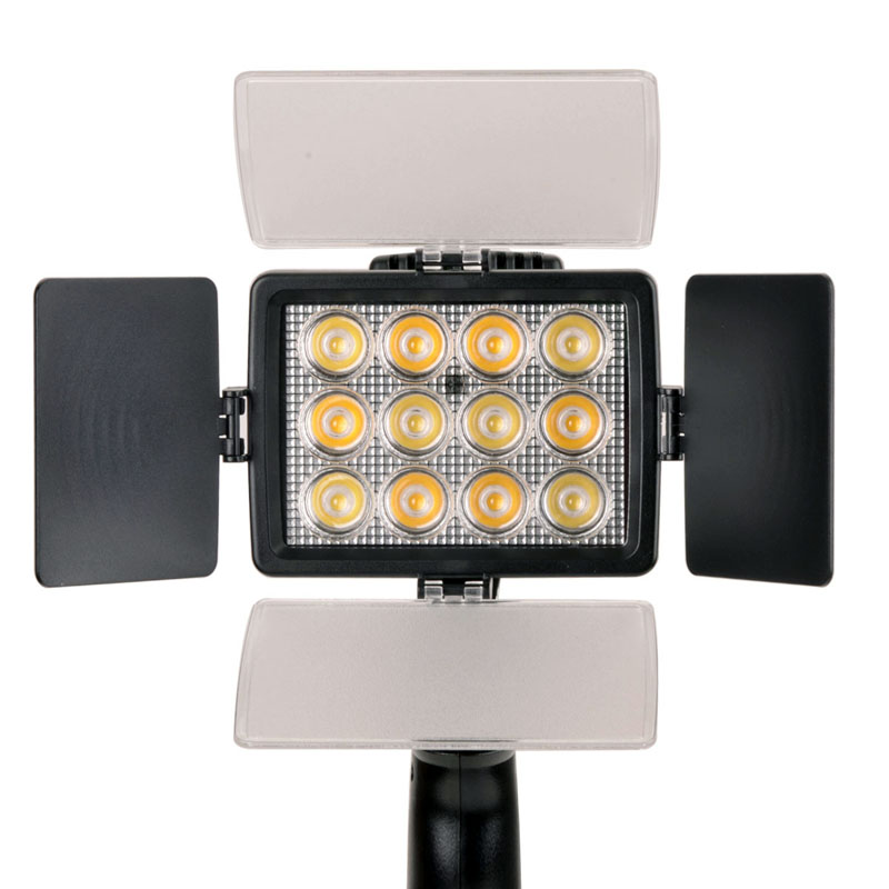 LED-1040A 36W 2850 Lux 12-LED Video Light 3500k/6000k Photos Photography Lighting for Canon Nikon DSLR Camera<br><br>Aliexpress