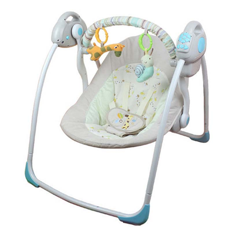 Electric Baby Rocking Chair Baby Rocking Cradle Muti-fuction Vibration Infant Portable Chair  Swing With Toys And Music HZ647<br><br>Aliexpress